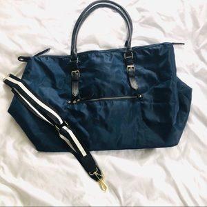 A New Day Large Tote Duffel Over Night Bag Blue